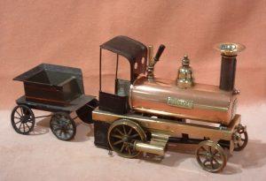 brass model of a locomotive